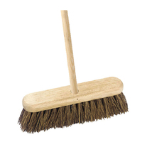 "12"" Contract Broom with Handle Stiff Bassine"