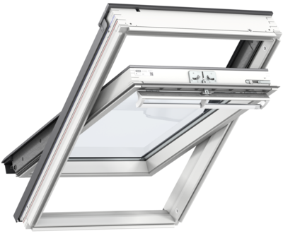VELUX WINDOW 940X1600MM WHITE PAINT PK10 2070 CENTRE-PIVOT (94 X 160 CM)