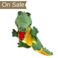 Large crocodile hand puppet with moveable mouth