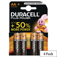 Batteries Duracell AA-Type MN1500 Pkt 4