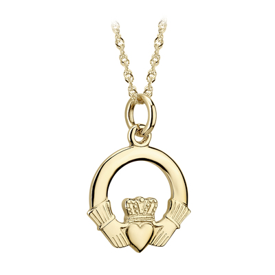 14K CLADDAGH MEDIUM PENDANT