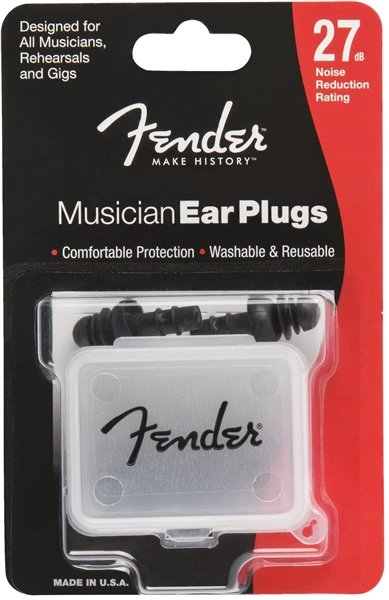 FENDER MUSICIAN EAR PLUGS 22DB NOISE REDUCTION