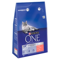 Purina One Adult Cat - Salmon & Whole Grains 3kg x 1