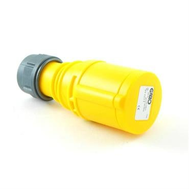 CEE S2324S Coupler 32A 110V 3P Yellow
