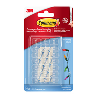 Command Clear Decorating Clips with Clear Strips 17026CLR