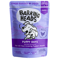 Barking Heads Dog Pouch - Puppy Days 300g x 10
