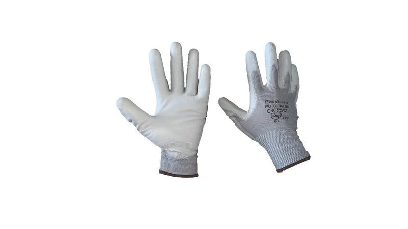 21904b4528 Pair Pu Palm Coated Grey 'pug' Nylon Glove - EPT