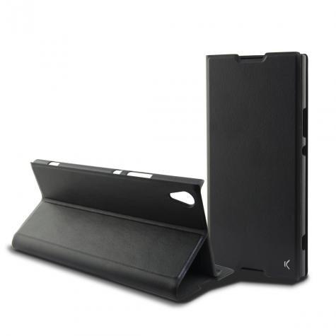 Ksix Black folio case for Xperia XA1