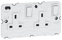 Arteor 13Amp Fused Spur (Without Neon) - White    LV0501.2251