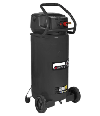 SIP 100ltr 06245 Airmate 2.5hp 10CFM V300/100 Vertical Air Compressor 230v Oil Free Direct Drive
