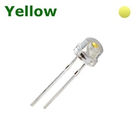 TKL-SH5Y | LED DIODE 4.8 MM YELLOW - STRAW HAT CLEAR BAG OF 1KPCS