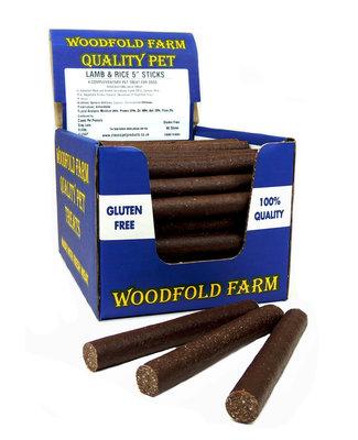 """Woodfold Farm 5"""" Lamb & Rice Stick x 80"""