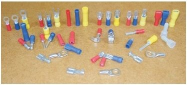 for 4mm bolt // screw 25 pack of yellow 4.3mm locking fork terminal crimp