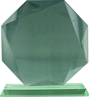 22cm Octagon Glass Plaque (Satin Box)