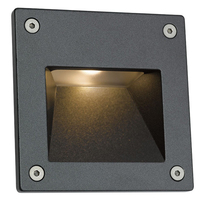 ANSELL 3W Camini Square 4000K LED Wall Light Graphite