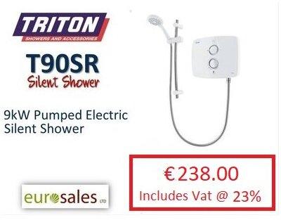 TRITON T90SR 9KW WHITE PUMPED ELECTRIC  SILENT SHOWER