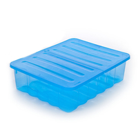 40L Underbed Storage Box Tint Blue With Folding Lid