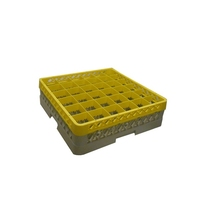 Glass Rack 36 Compartment with 1 Yellow Extender