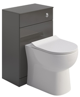 Sonas Belmont Back to Wall WC Unit Gloss Grey