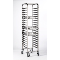 Gastronorm Trolley 1/1 S/S 20 Shelf 585mm x 455mm x170mm