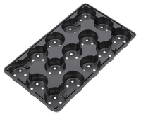 Aeroplas Carry Trays for 10.5cm Round 5° Pots 15 per Tray - Blac