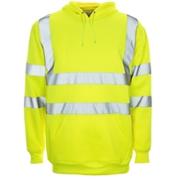 Supertouch Hi-Visibility Hooded Sweatshirt, Yellow