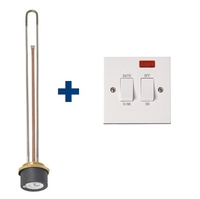 "IDEAL 24"" IMMERSION HEATER WITH 1.5 METRE FLEX PLUS IMMERSION SWITCH"