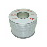 Triax RG6- U PVC White 100m