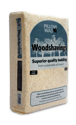 Pillow Wad Mini-Bale Woodshavings - Large 3.6kg x 1