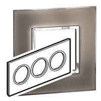 Arteor (British Standard) Plate 6 Module Round Mirror Taupe | LV0501.0346