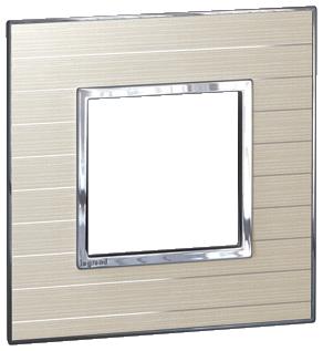 Arteor (British Standard) Plate 2 Module 1 Gang Square Casual | LV0501.0794