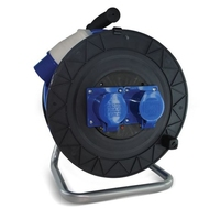 25 METRE SAFELINE 3 CORE 2.5 BLUE ARTIC CABLE REEL  220V WITH 16 AMP PLUG