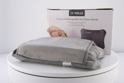 De Vielle Grey Hot Water Bottle Front