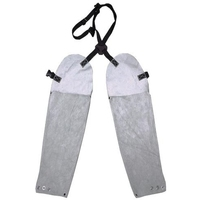 Leather Welders Sleeves Long With Back Strap System & Wrist Domes