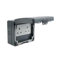 Schneider 13A 2 Gang Unswitched Socket IP66