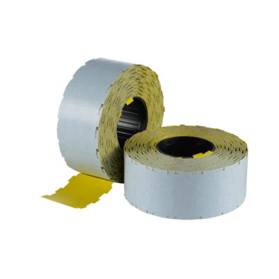 LYNX NOR D 24x11mm (WITH SLITS) Labels - Yellow Permanent (Box 45k)