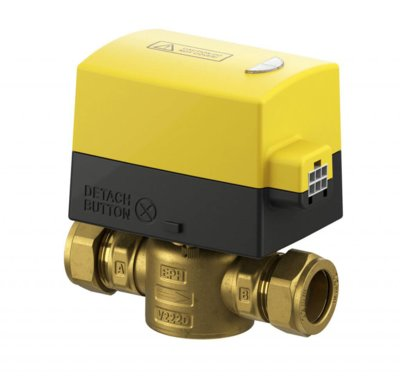 "EPH CONTROLS 3/4"" 2 PORT COMPRESSION MOTORISED VALVE, NORMALLY CLOSED 230VAC"