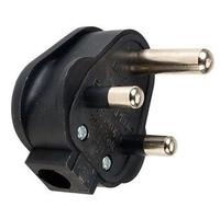 HEAVY DUTY REWIREABLE PLUG 15 AMP BLACK