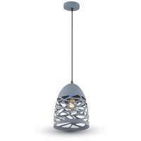 Mesh Pendant Matt Grey