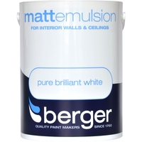 BERGER  MATT EMULSION PAINT BRILLIANT WHITE 5 LTR