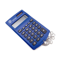 Metal Detectable Calculator, Handheld c/w Chain