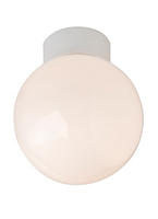 GLOBE 60W bathroom ceiling light, I P44, 100mm, White