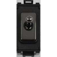 Schneider Ultimate Screwless Grid Black Nickel Intermediate Toggle|LV0701.1072