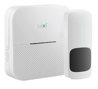 LEXI WIRELESS MAINS DOORBELL  1 TRANSMITTER + 2 RECEIVER (1PORTABLE + 1 PLUG-IN) UP TO 300M RANGE