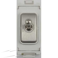 Schneider Ultimate Screwless Grid Stainless Steel Intermediate Toggle White|LV0701.1079
