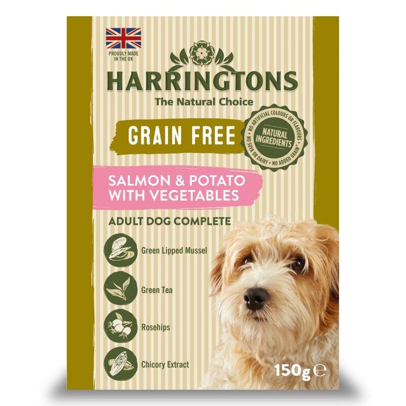 Harringtons Wet Salmon & Potato Dog Food Trays 7 x 150g
