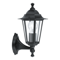EGLO Laterna 4 Black Lantern Stand Up IP44 Wall Light | LV1902.0115