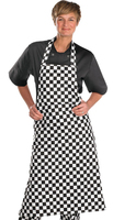"Click Chefs Bib Apron Black/White 28"" wide x 40"" high"