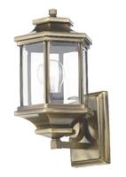 Ladbroke Lantern IP44, Antique Brass Complete With Bevelled Glass | LV1802.0165
