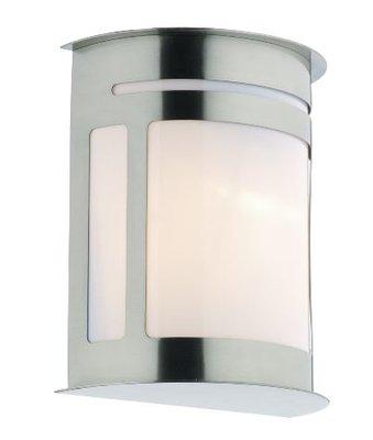 Alumni Wall Light with Lantern IP44, Stainless Steel  | LV1802.0152
